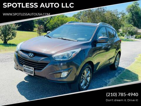 2015 Hyundai Tucson for sale at SPOTLESS AUTO LLC in San Antonio TX