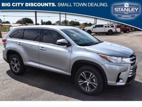 2019 Toyota Highlander for sale at STANLEY FORD ANDREWS in Andrews TX