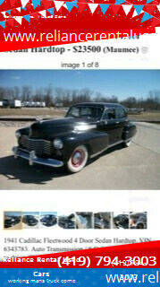 1941 Cadillac Fleetwood for sale at Reliance Rental Used Cars in Maumee OH