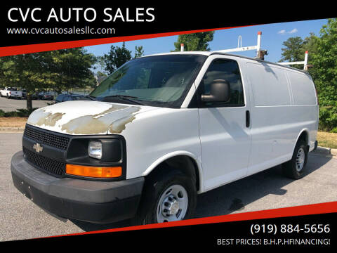 2009 Chevrolet Express Cargo for sale at CVC AUTO SALES in Durham NC