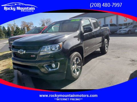 2016 Chevrolet Colorado for sale at Rocky Mountain Motors in Idaho Falls ID