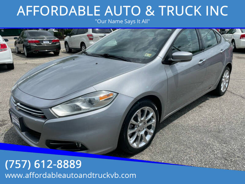 2015 Dodge Dart for sale at AFFORDABLE AUTO & TRUCK INC in Virginia Beach VA
