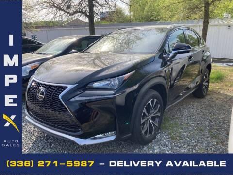 2017 Lexus NX 200t for sale at Impex Auto Sales in Greensboro NC