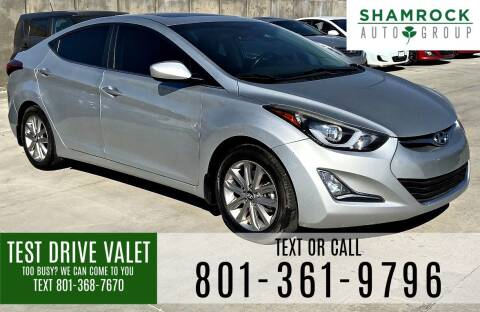 2015 Hyundai Elantra for sale at Shamrock Group LLC #1 in Pleasant Grove UT