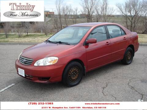 2004 Toyota Corolla for sale at TRINITY FINE MOTORCARS in Sheridan CO