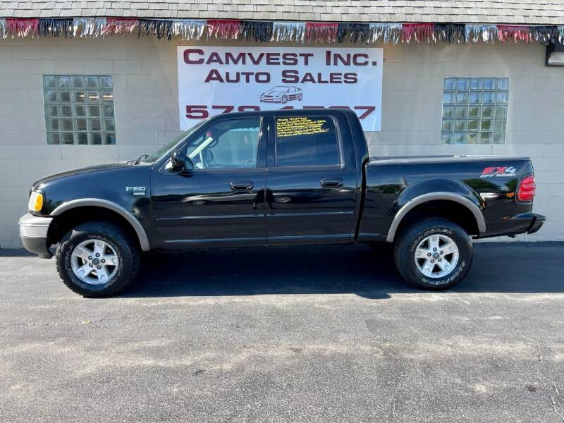 2002 Ford F-150 for sale at Camvest Inc. Auto Sales in Depew NY