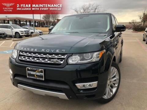 2014 Land Rover Range Rover Sport for sale at European Motors Inc in Plano TX