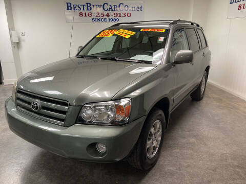 2007 Toyota Highlander for sale at Best Buy Car Co in Independence MO