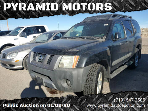 2006 Nissan Xterra for sale at PYRAMID MOTORS - Pueblo Lot in Pueblo CO