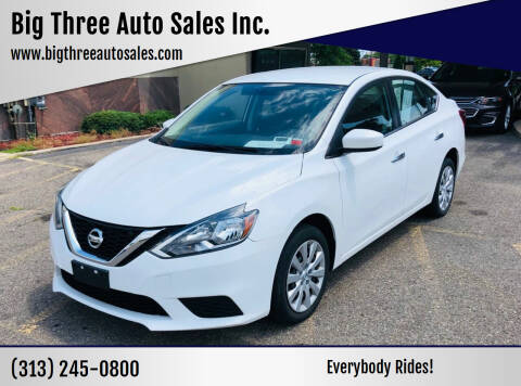 2017 Nissan Sentra for sale at Big Three Auto Sales Inc. in Detroit MI