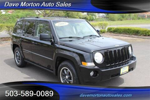 2007 Jeep Patriot for sale at Dave Morton Auto Sales in Salem OR
