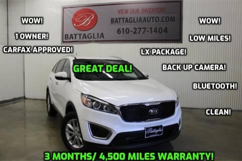2016 Kia Sorento for sale at Battaglia Auto Sales in Plymouth Meeting PA