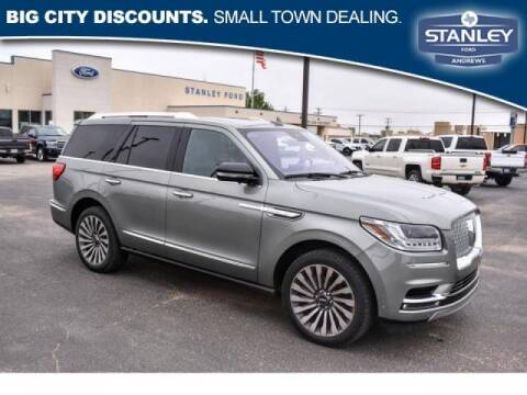 2019 Lincoln Navigator for sale at STANLEY FORD ANDREWS in Andrews TX