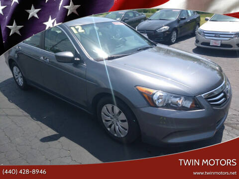 2012 Honda Accord for sale at TWIN MOTORS in Madison OH