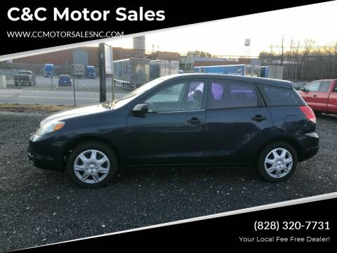 2003 Toyota Matrix for sale at C&C Motor Sales LLC in Hudson NC