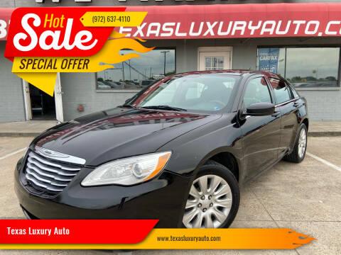 2014 Chrysler 200 for sale at Texas Luxury Auto in Cedar Hill TX