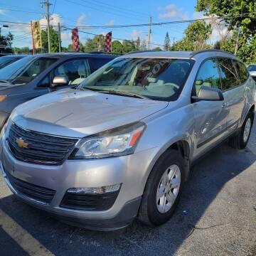 2013 Chevrolet Traverse for sale at America Auto Wholesale Inc in Miami FL