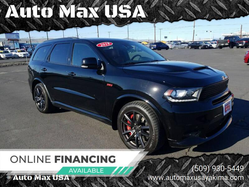 2018 Dodge Durango for sale at Auto Max USA in Yakima WA