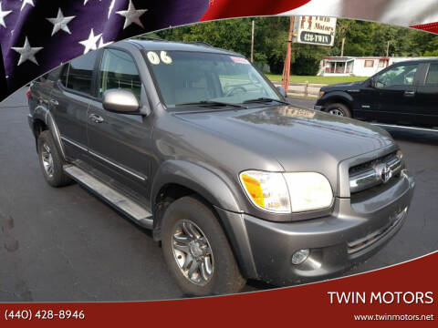 2006 Toyota Sequoia for sale at TWIN MOTORS in Madison OH