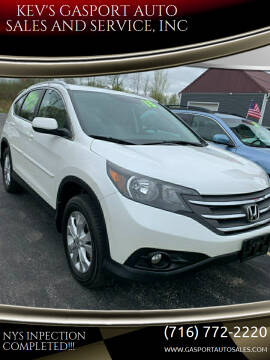 2013 Honda CR-V for sale at KEV'S GASPORT AUTO SALES AND SERVICE, INC in Gasport NY