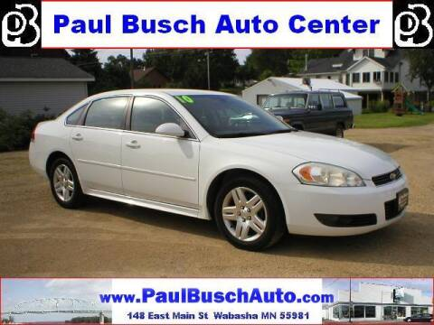 2010 Chevrolet Impala for sale at Paul Busch Auto Center Inc in Wabasha MN