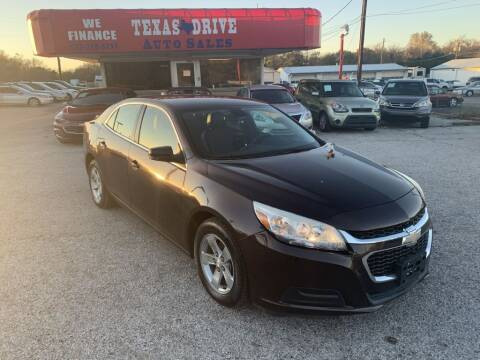 2015 Chevrolet Malibu for sale at Texas Drive LLC in Garland TX