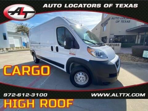 2019 RAM ProMaster Cargo for sale at AUTO LOCATORS OF TEXAS in Plano TX