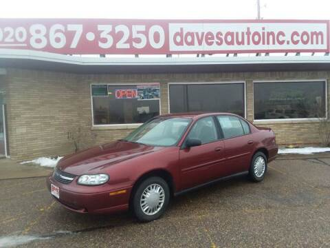 2002 Chevrolet Malibu for sale at Dave's Auto Sales & Service in Weyauwega WI