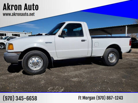 2002 Ford Ranger for sale at Akron Auto in Akron CO