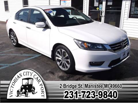 2013 Honda Accord for sale at Victorian City Car Port INC in Manistee MI