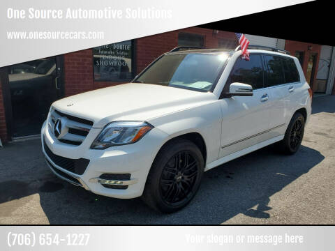 2015 Mercedes-Benz GLK for sale at One Source Automotive Solutions in Braselton GA
