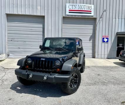 2012 Jeep Wrangler for sale at CTN MOTORS in Houston TX