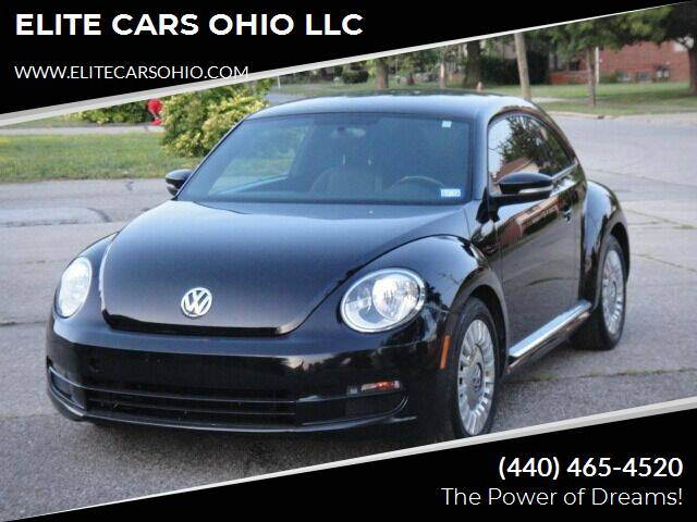 2013 Volkswagen Beetle for sale at ELITE CARS OHIO LLC in Solon OH