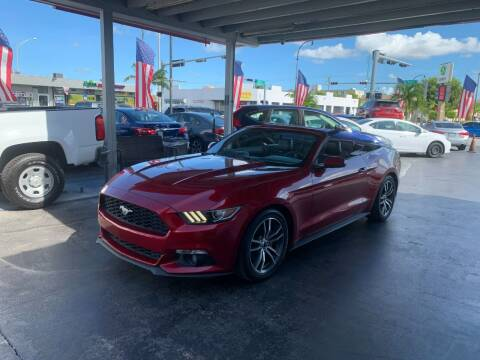2016 Ford Mustang for sale at American Auto Sales in Hialeah FL