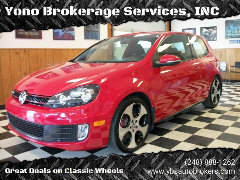 2010 Volkswagen GTI for sale at Yono Brokerage Services, INC in Farmington MI