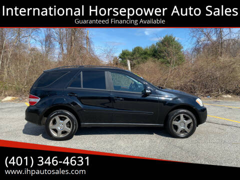 2006 Mercedes-Benz M-Class for sale at International Horsepower Auto Sales in Warwick RI