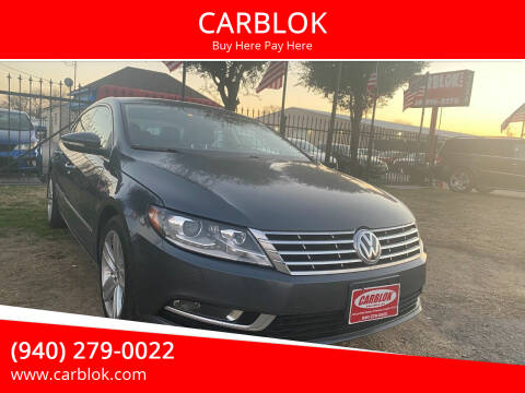 2015 Volkswagen CC for sale at CARBLOK in Lewisville TX