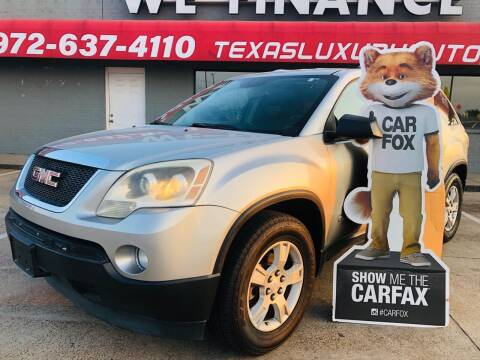 2008 GMC Acadia for sale at Texas Luxury Auto in Cedar Hill TX
