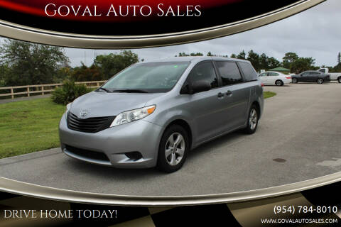 2012 Toyota Sienna for sale at Goval Auto Sales in Pompano Beach FL