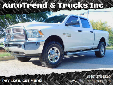 2016 RAM Ram Pickup 3500 for sale at AutoTrend & Trucks Inc in Fredericksburg VA