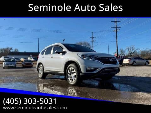 2015 Honda CR-V for sale at Seminole Auto Sales in Seminole OK