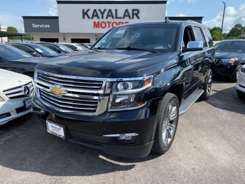 2015 Chevrolet Tahoe for sale at KAYALAR MOTORS in Houston TX