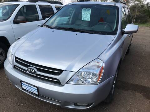 2007 Kia Sedona for sale at BARNES AUTO SALES in Mandan ND
