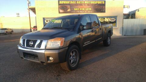 2010 Nissan Titan for sale at Advantage Auto Motorsports in Phoenix AZ