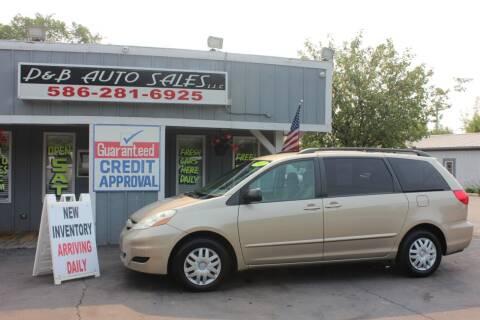 2007 Toyota Sienna for sale at D & B Auto Sales LLC in Washington MI