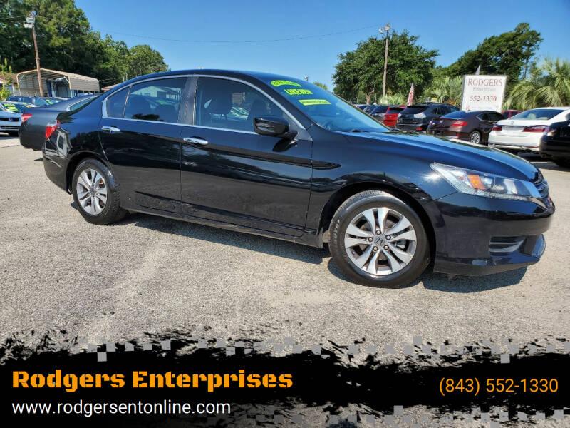 2015 Honda Accord for sale at Rodgers Enterprises in North Charleston SC
