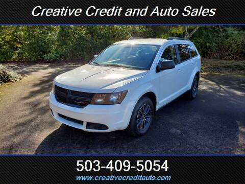 2017 Dodge Journey for sale at Creative Credit & Auto Sales in Salem OR