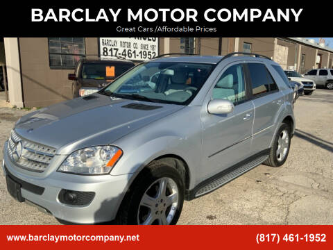 2008 Mercedes-Benz M-Class for sale at BARCLAY MOTOR COMPANY in Arlington TX