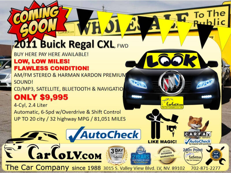 2011 Buick Regal for sale in Las Vegas, NV