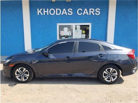 2017 Honda Civic for sale at Khodas Cars in Gilroy CA